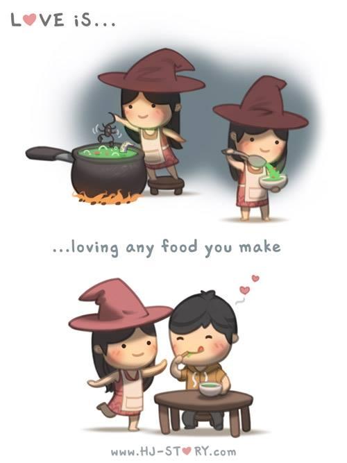24. Amar cualquier comida que hagas.