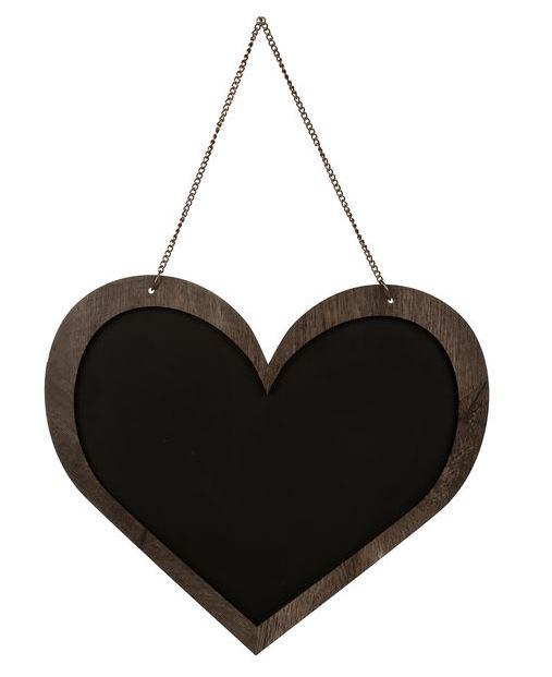 O dejándote mensajitos a la mañana en esta Pizarra Negra Cachita Deco Corazón con Marco, a 9