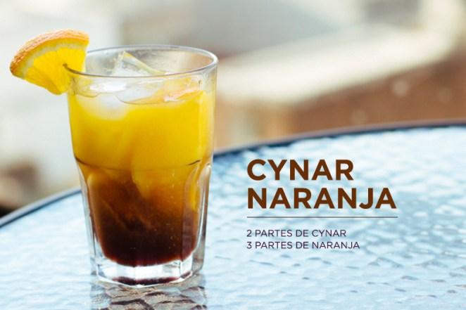 1. Cynar naranja, el clásico cítrico. Para una tarde después del trabajo