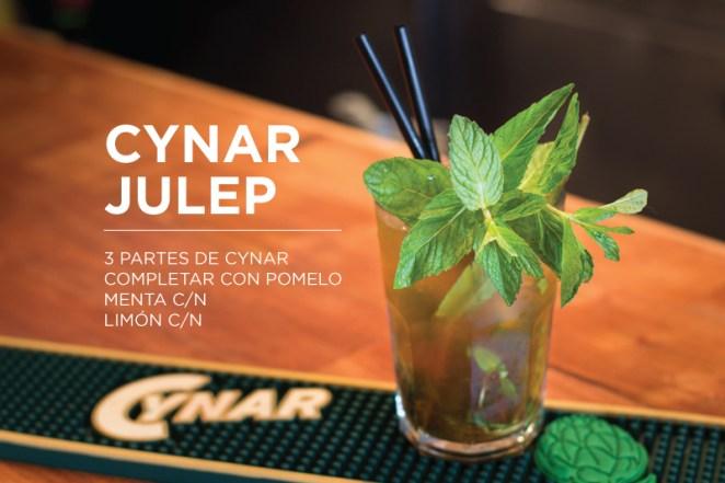 6. Infaltable el Cynar Julep, el emperador de los cócteles con Cynar. Si recién empezás con este aperitivo, es un trago que TENES QUE HACER.