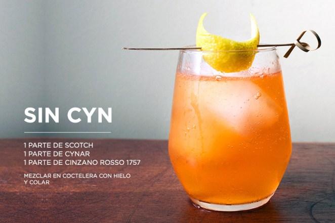 8. El Sin Cyn es intenso y potente. Para noches en las que beber es cosa seria