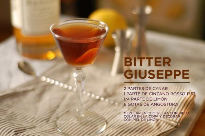 15. Serví el Bitter Guiseppe en copas pequeñas para evitar excesos