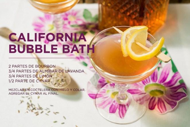 19. El California bubble bath es uno de esos tragos que parecen suaves pero son muy potentes. ¡Que no te engañe la lavanda!