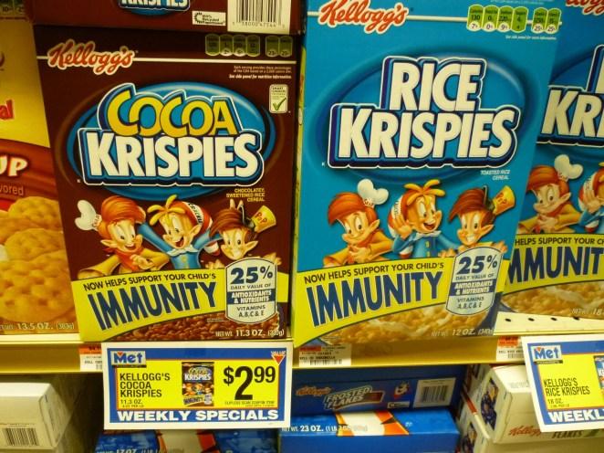 Resultado de imagen para rice krispies immunity