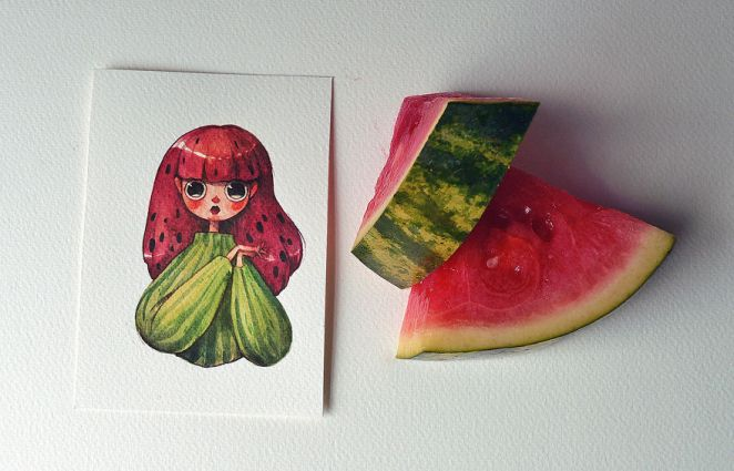 An Affectionate Watermelon