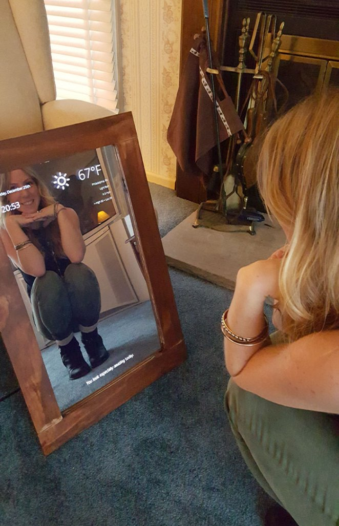 A Magic Mirror Powered By A Raspberry Pi. Best Christmas Present I