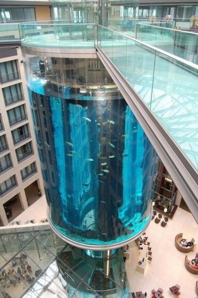 Aquarium Elevator In Berlin, Germany
