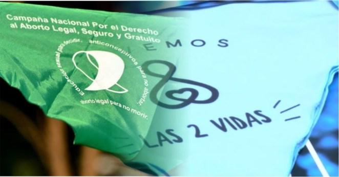 Resultado de imagen para aborto pañuelo verde celeste