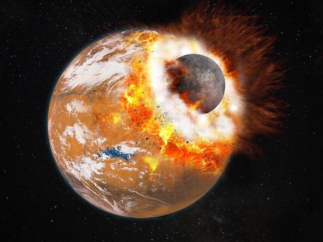 Resultado de imagen para phobos collides with mars
