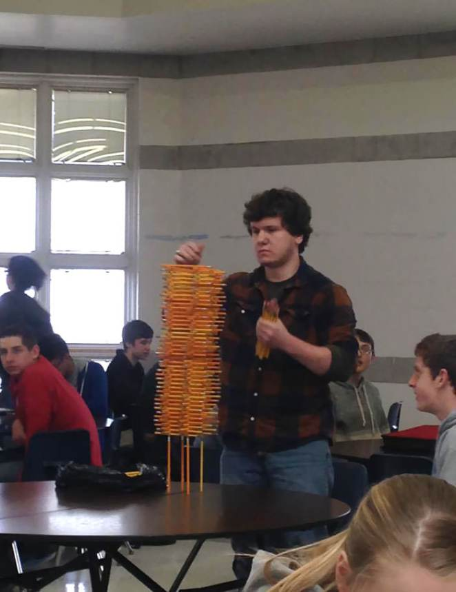 This Kid At My School Likes To Stack Pencils