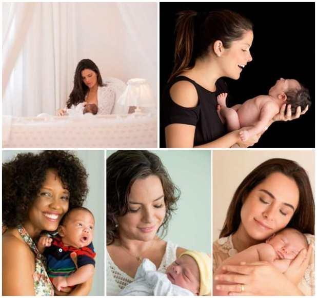 ensaio newborn famosas