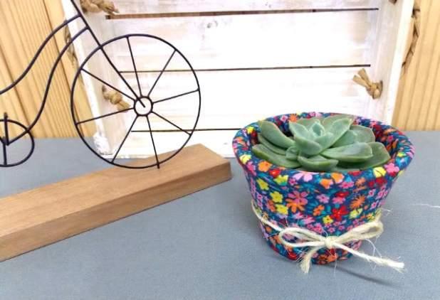 Vaso de suculenta decorado: faça você mesma