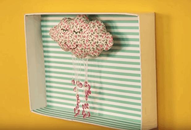 quadro feito com tampa de caixa