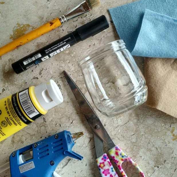 material coelho pote de vidro