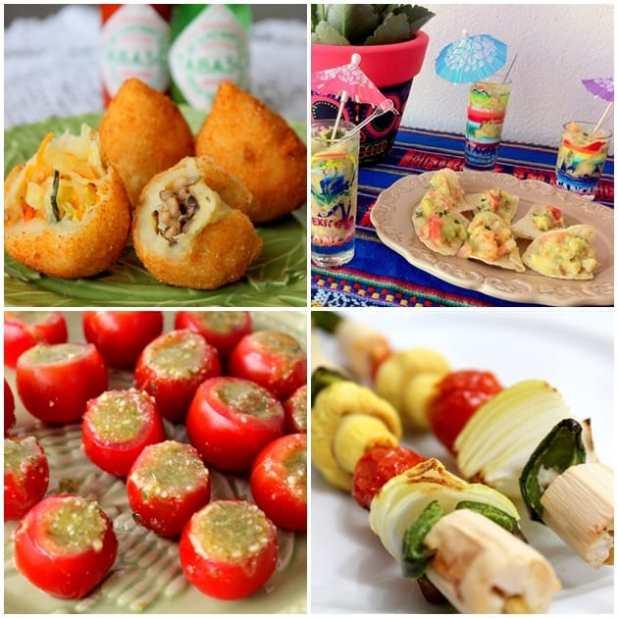 menu leve e saudável para festas