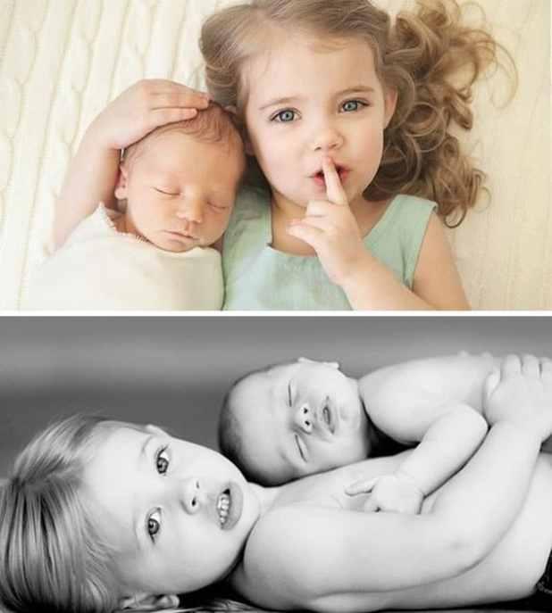 ideias de registro de irmãos recém nascido