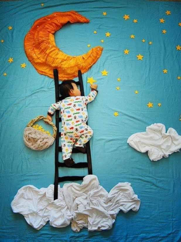ensaio newborn criativo