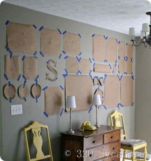 20 paredes com quadros