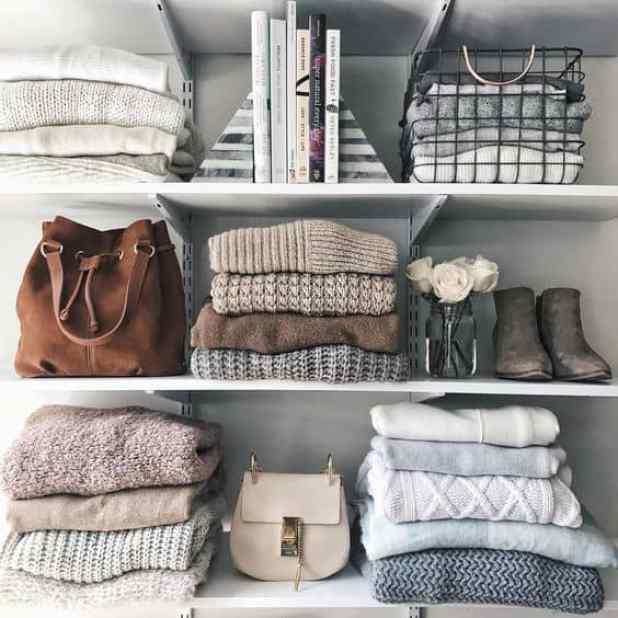 como organizar o guarda roupa de inverno