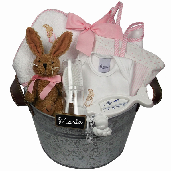 Regalo por nacimiento canastillas beb capa de ba o - Capas de bano bebe personalizadas ...