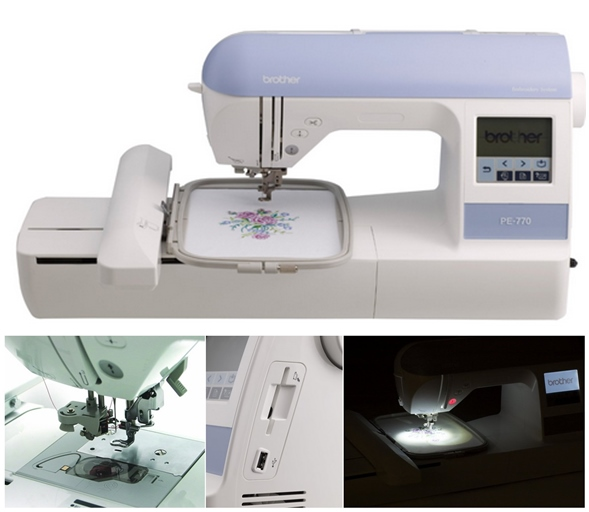 how to use pe770 embroidery machine