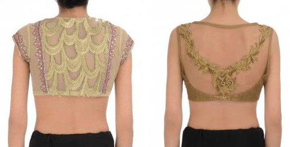 High Backneck Embroidery Work