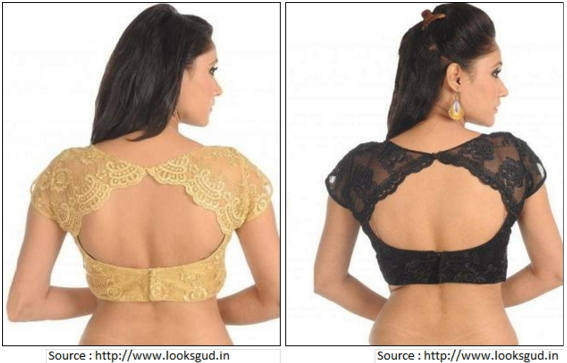 Scalloped Back Neck Embroidery