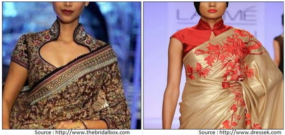 SweetHeart With Collar Blouse Designs