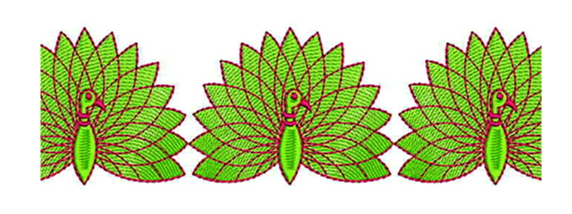 Peacock Clipart Embroidery Lace Border