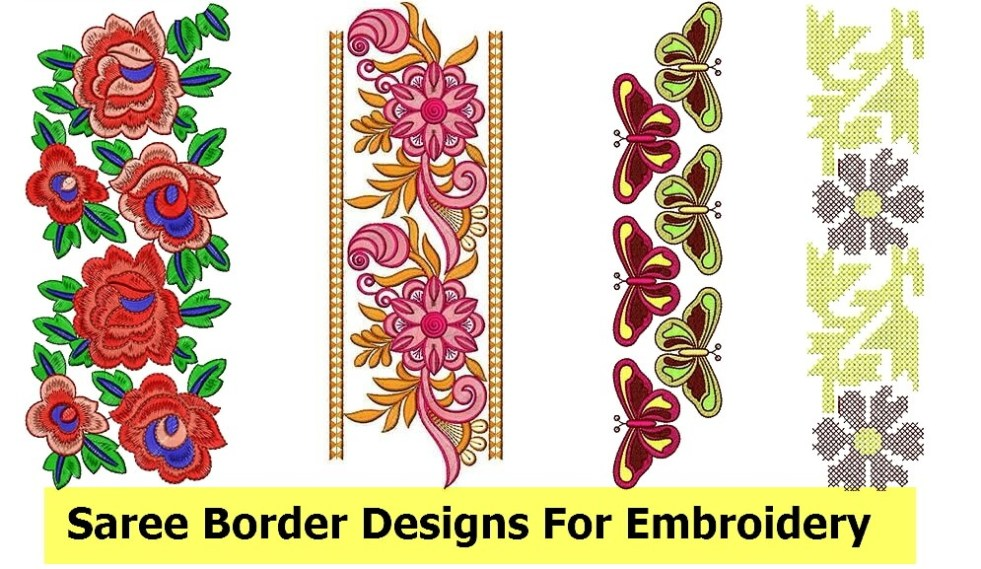 Saree Border Designs For Embroidery Machine