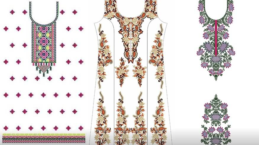 Latest Embroidery Designs For Punjabi Suits