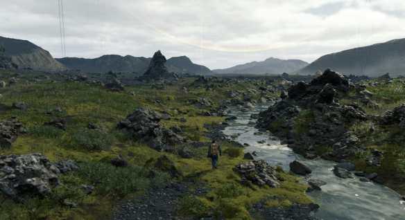 Die Welt in Death Stranding erinnert stark an Island.