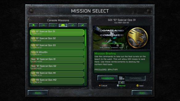 Missionen können einzeln und direkt gewählt werden.