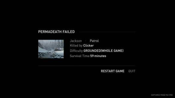 Endgültiger Tod - der Hardcode-Modus für The Last of Us Part II.