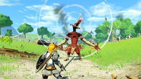 Natürlich spielen wir Link in Hyrule Warriors: Zeit der Verheerung.