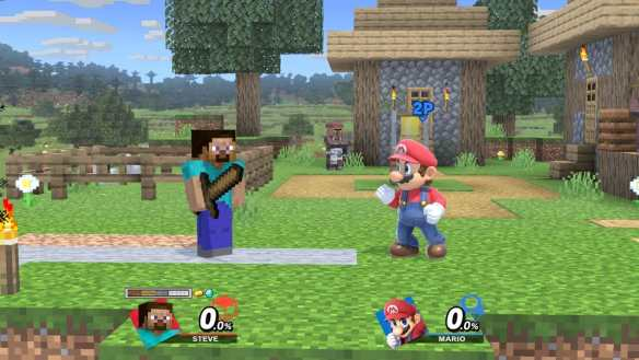 Steve und Alex aus Minecraft mischen in Super Smash Bros. Ultimate mit!