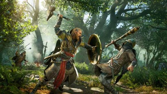 Fette Kämpfe mit Axt, Schwert und Schild - das macht Laune.