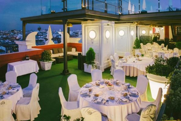 Banquetes de boda en terraza