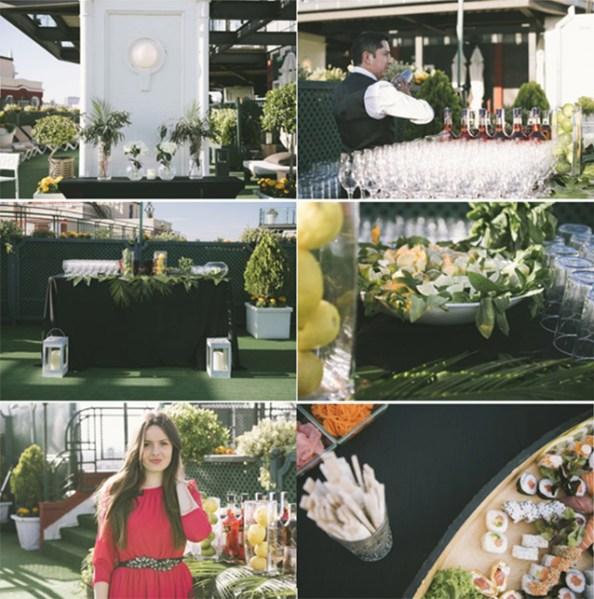 Diferentes espacios en el Roof Garden del Hotel Emperador