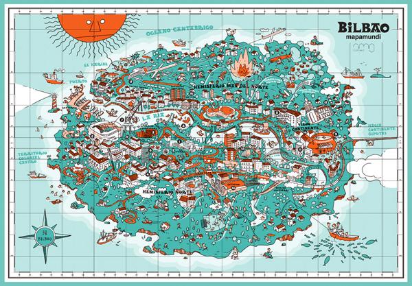 an-illustrative-map-of-bilbao-spain