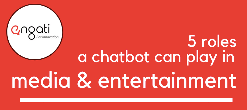 5 Roles a Chatbot can play in Media & Entertainment [Infographic]