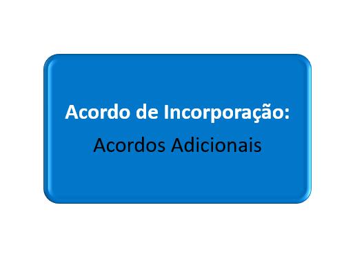 acordos adicionais do acordo de incorporação