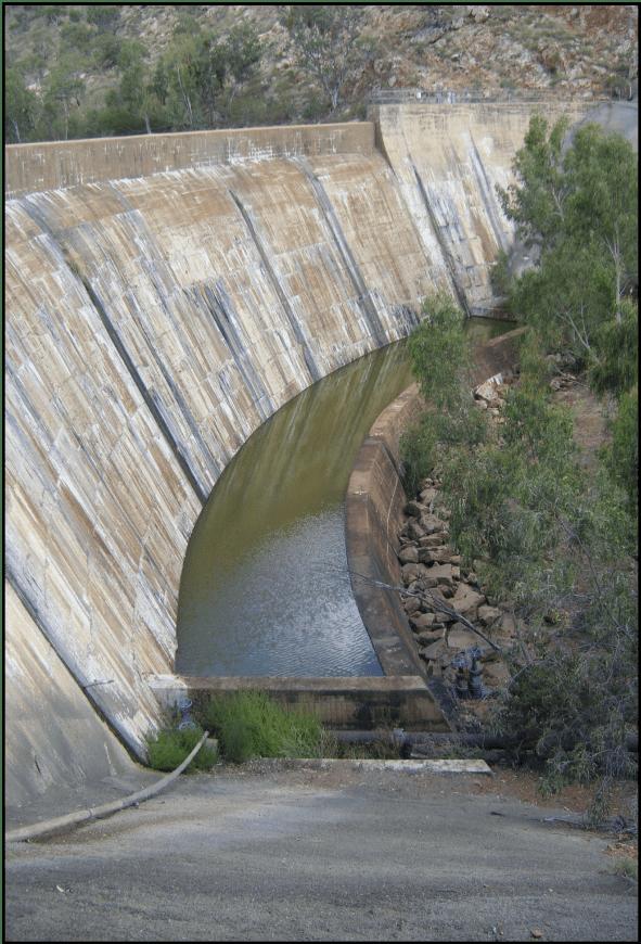 A site photo of the Rifle Creek dam in Queensland Australia