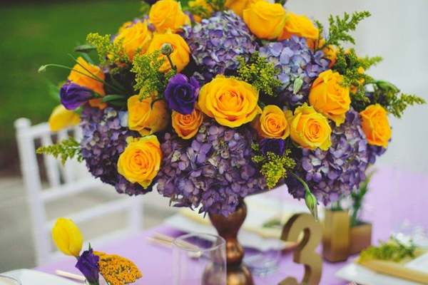 Complementary colors to consider for your wedding.