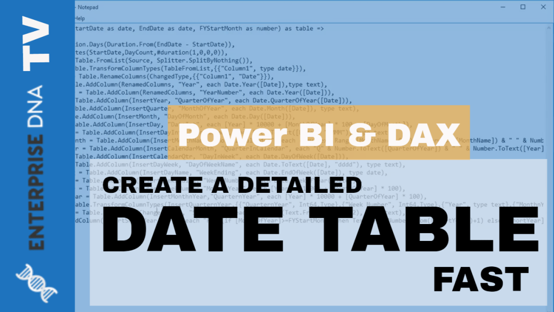Build A Comprehensive Date Table Really Fast in Power BI