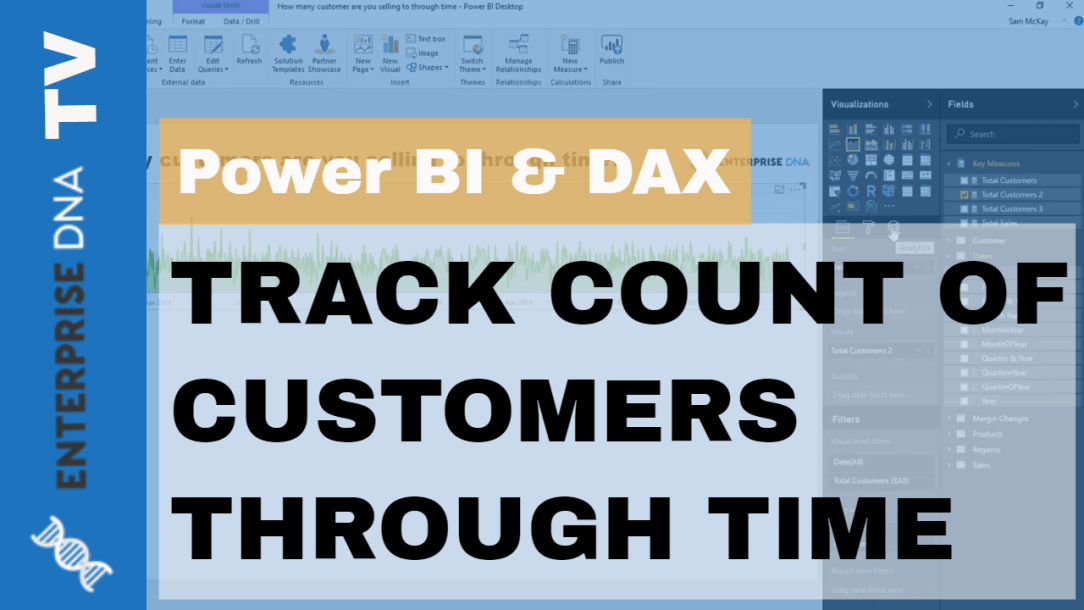 Counting Customers Over Time using DAX DISTINCTCOUNT function Example in Power BI
