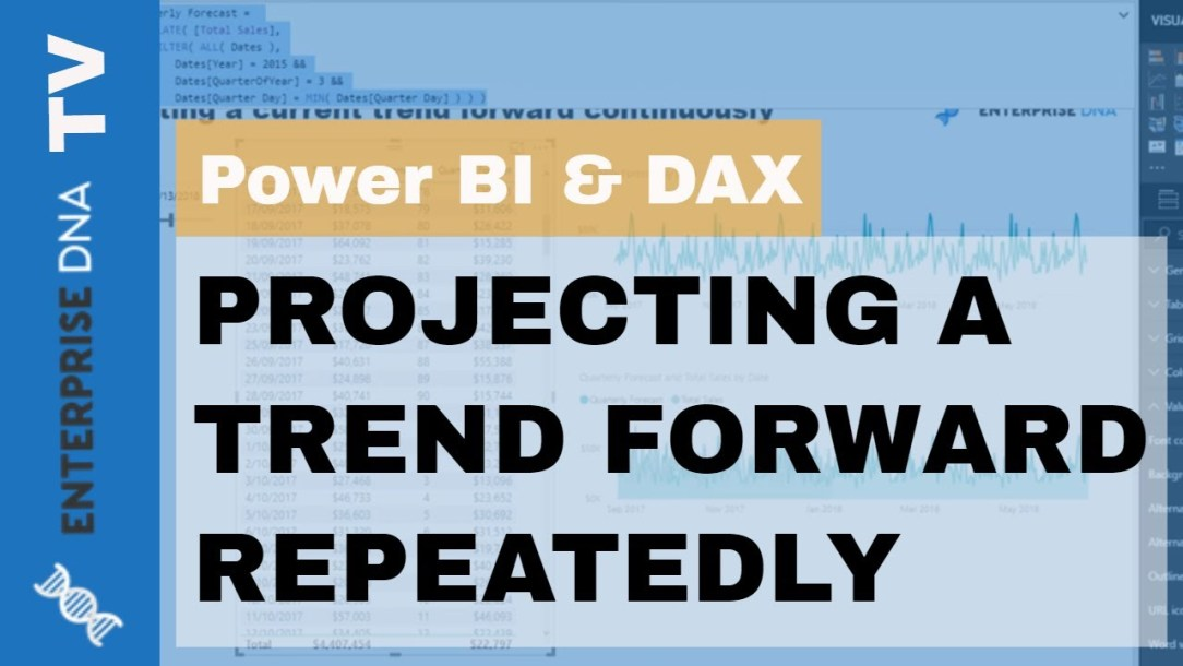 Discover How To Repeatedly Project A Current Trend Forward In Power BI