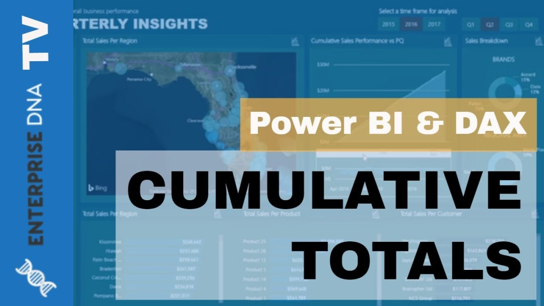 Create Dynamic Cumulative Totals Using DAX In Power BI
