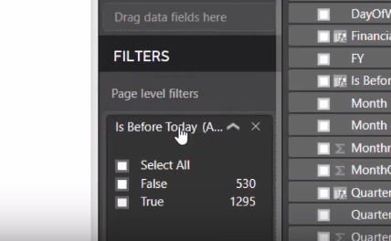 Page level filters Power BI