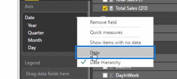 selecting date